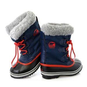 SOREL Kid Yoot Pac Nylon Cold Weather Blue Boot